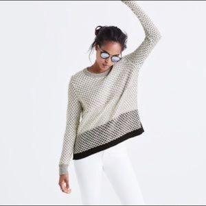 MADEWELL | Geo Block Pullover Sweater